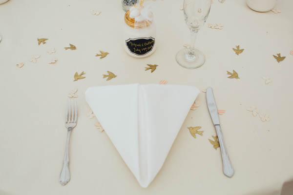 simple ivory table decor