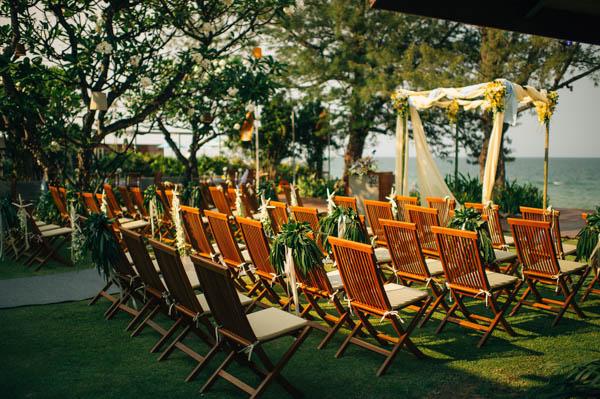 stunning Thailand rustic beach wedding ceremony decor