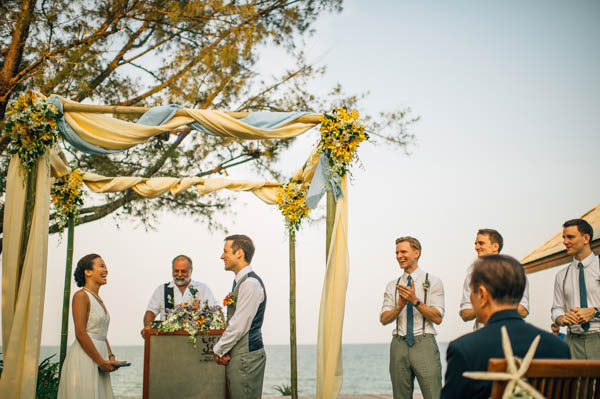 simply beautiful waterfront ceremony