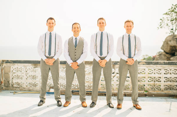 stylish groom and groomsmen