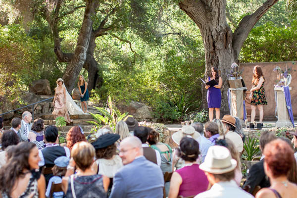outdoor unique and whimsical wedding ceremony