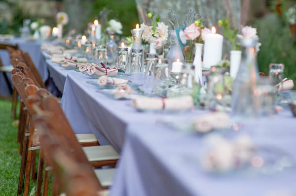 whimsical carnival wedding tablescape