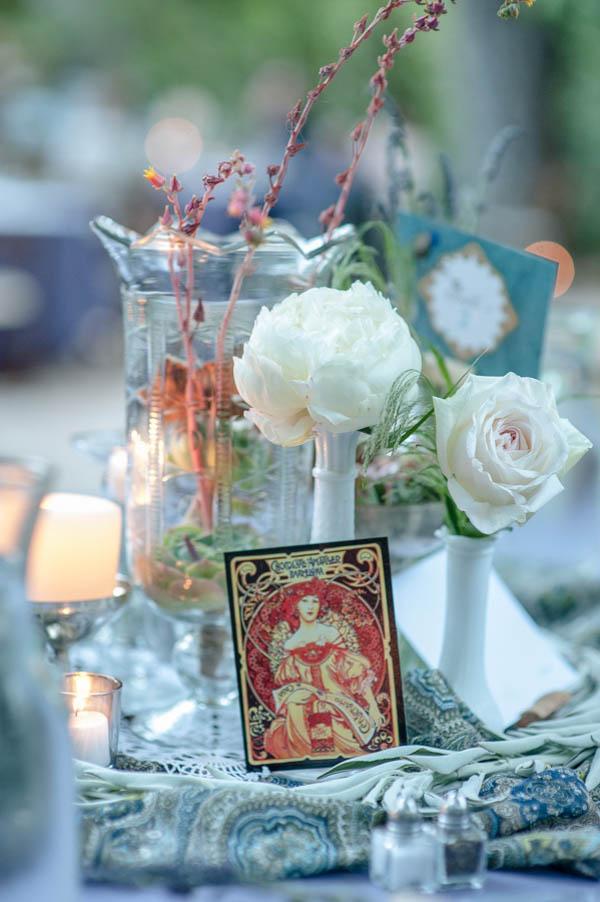 whimsical carnival wedding table decor