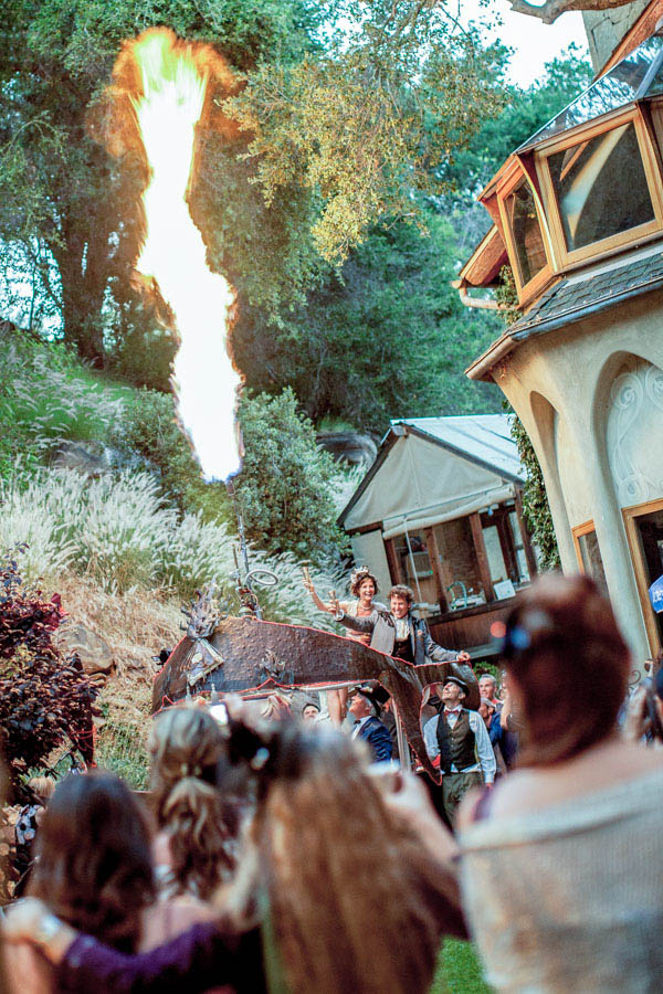whimsical and lively carnival wedding reception