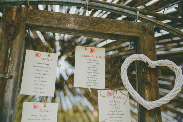 rustic table assignment ideas