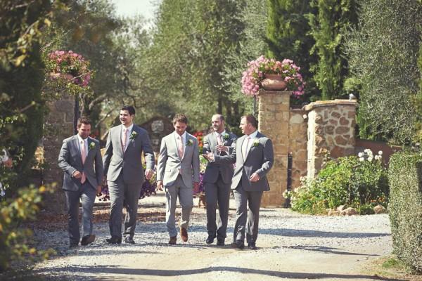 stylish groom and his groomsmen