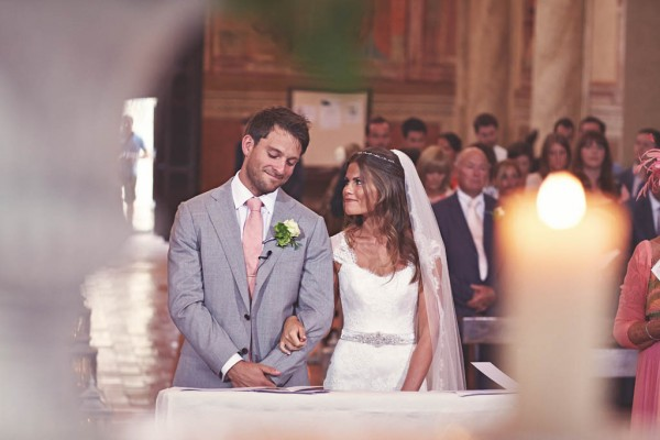 romantic Italian destination wedding church ceremony