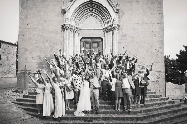 fun wedding party portrait