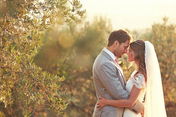 breathtaking Italian wedding couple's portrait