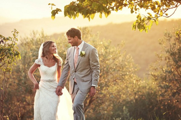 stunning couple's portrait with golden light