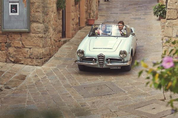 vintage Italian car portrait