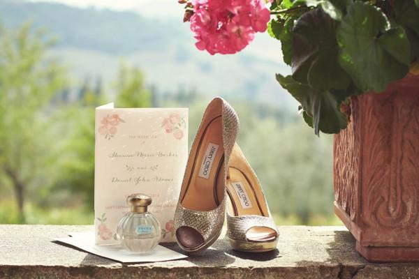 Jimmy Choo sparkle wedding shoes