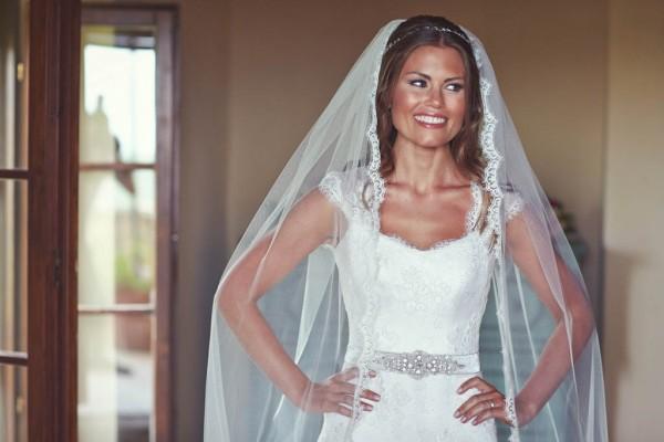 bridal portrait with veil