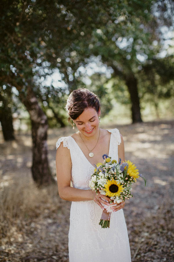 simple and natural bridal portrait
