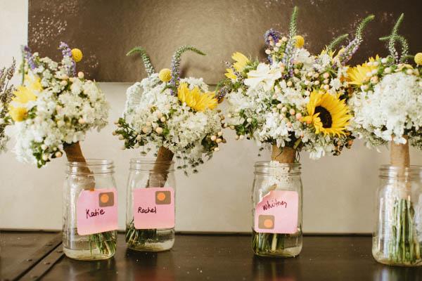 Backyard Wedding Bridesmaids Bouquets