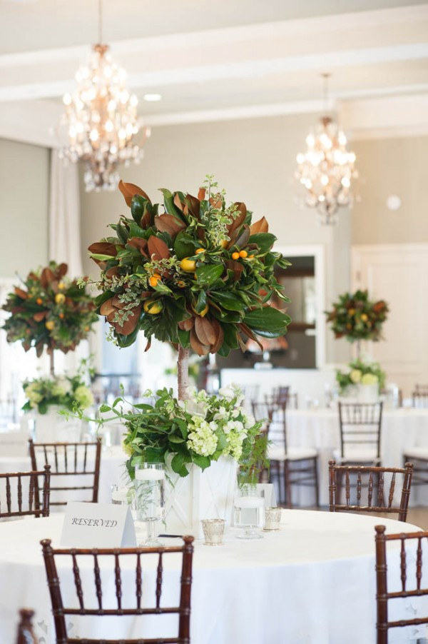 orange tree centerpiece