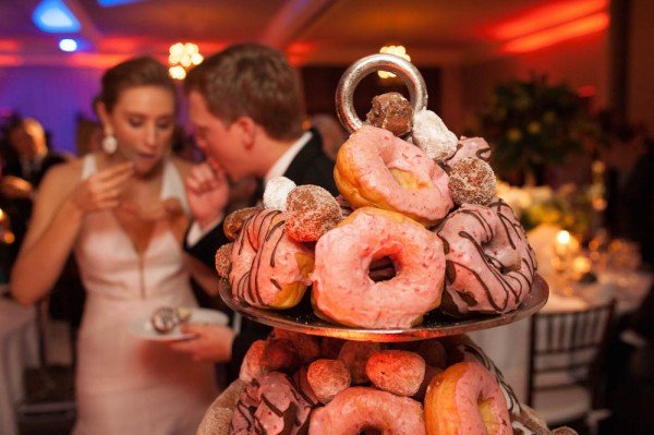 doughnut tower wedding reception