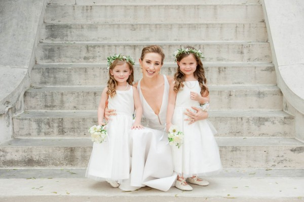 adorable flower girls with modern accessories