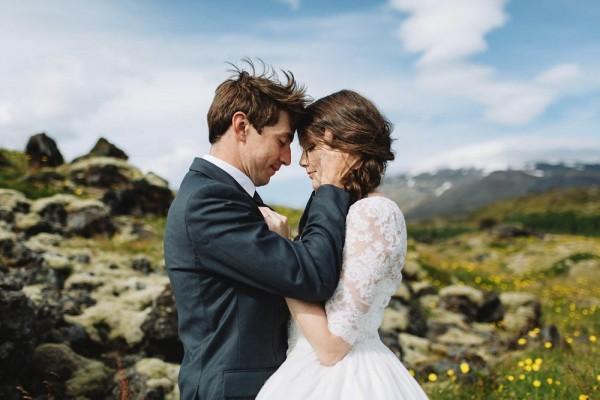 romantic Iceland wedding