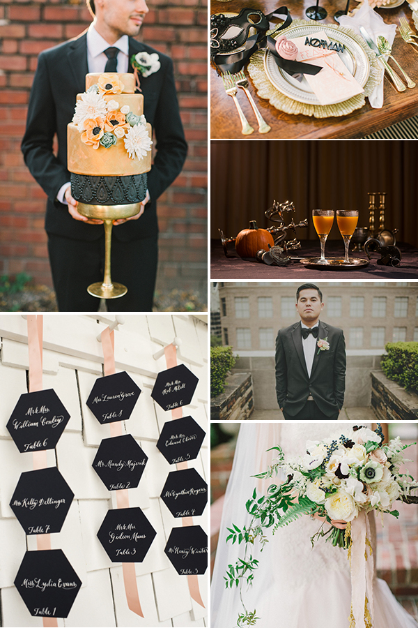 Black and Coral Wedding Color Palette | Junebug Weddings