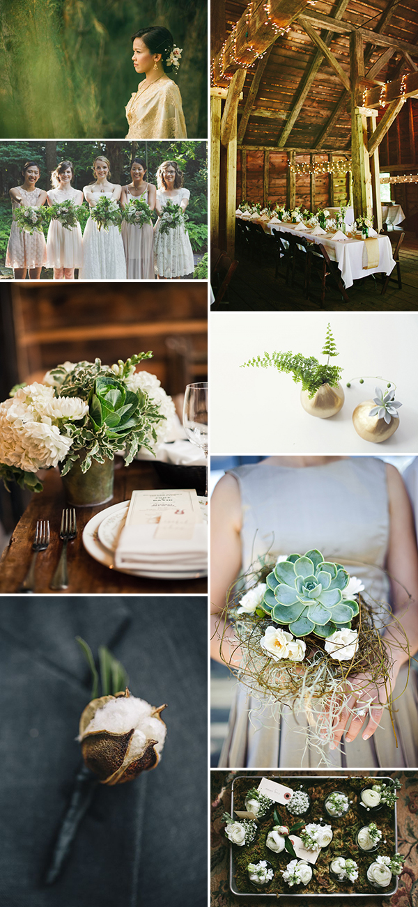 green, gold, and ivory wedding inspiration