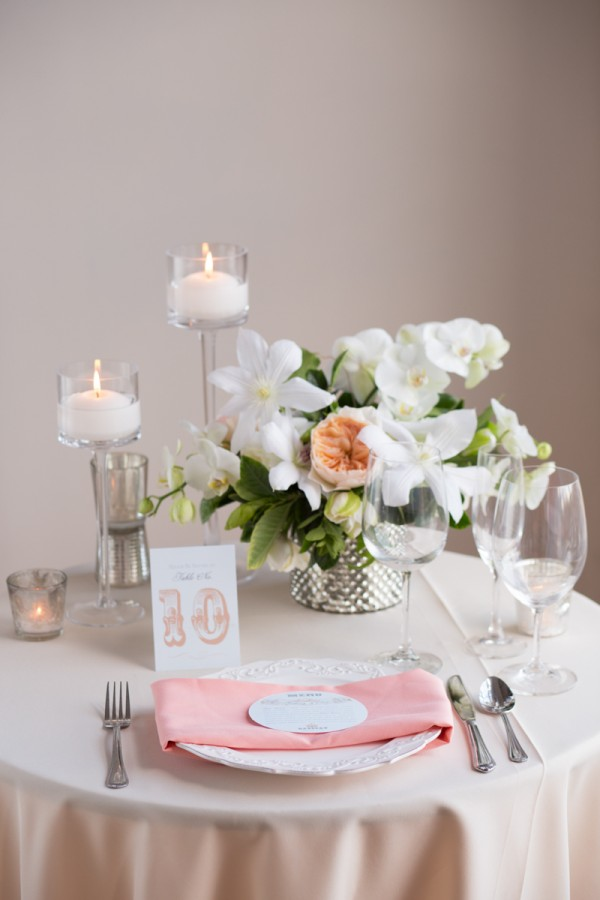 pink and ivory tablescape inspiration
