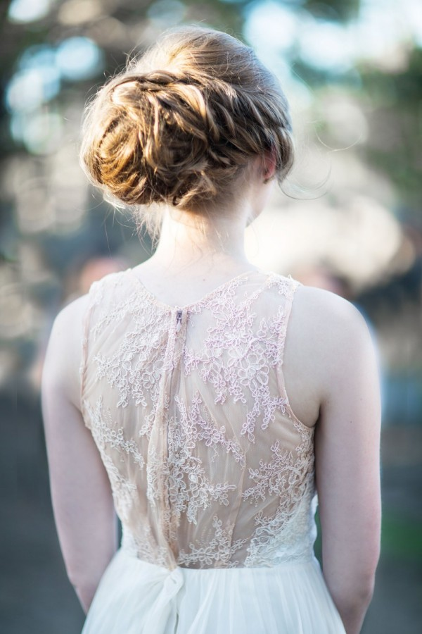 lace back Leanne Marshall wedding gown