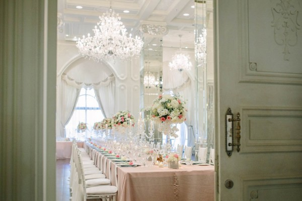 modern French inspired wedding decor