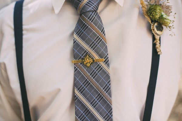 navy and gold groom attire