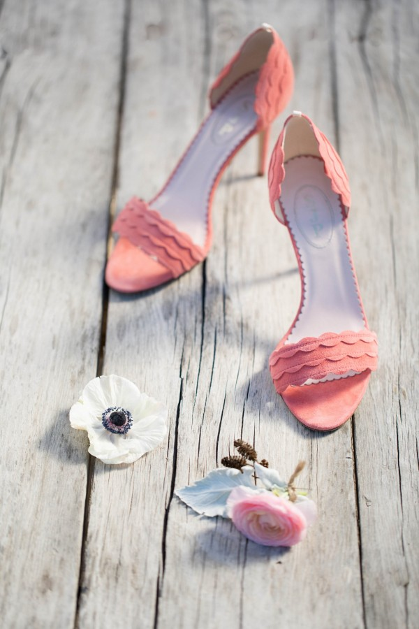 light pink bridal shoes