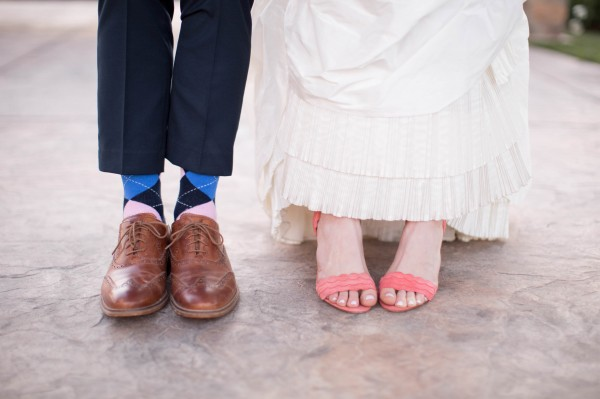 preppy bride and groom style