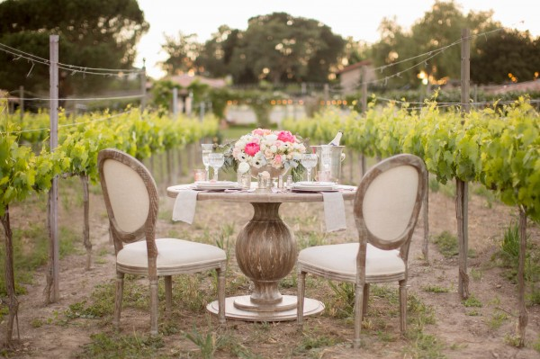 romantic rustic vineyard wedding
