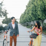 Colorful Bike Engagement Session