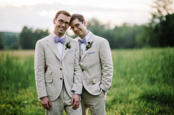 lavender and sage groom attire