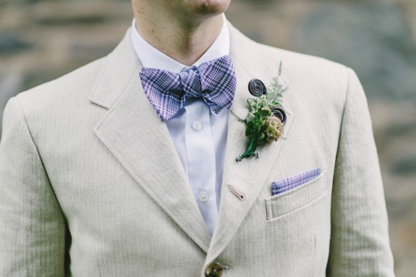 plaid purple bow tie
