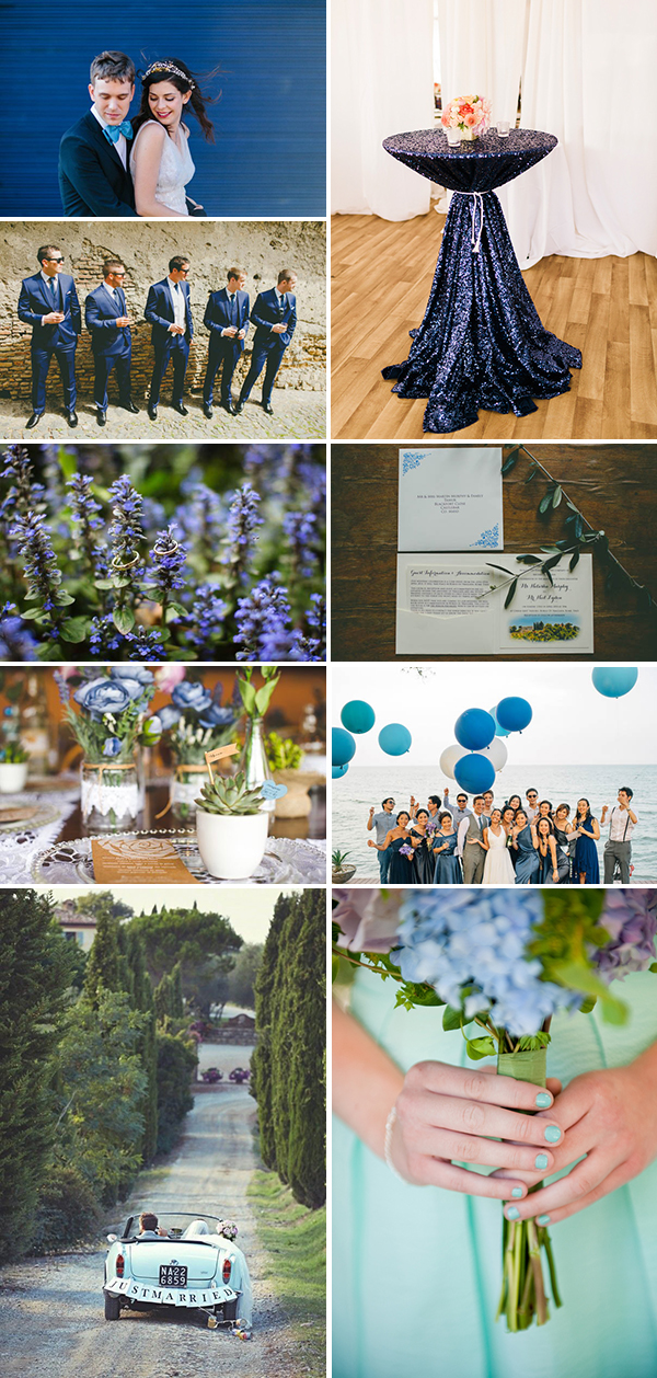 blue ombré wedding inspiration