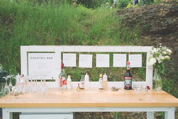 wedding craft cocktail bar