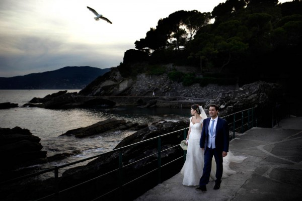 waterfront wedding in Italy