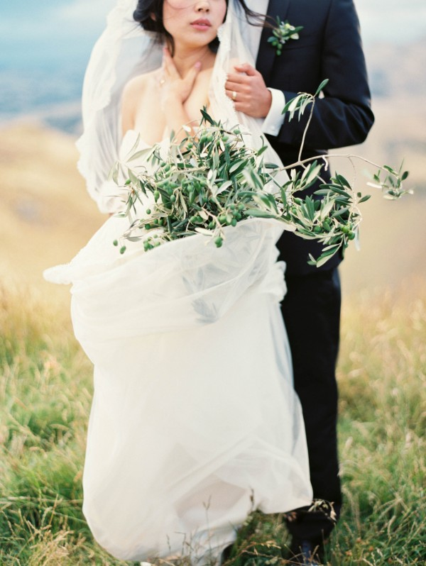 textured greenery bouquet