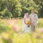 Coral and Teal Wedding at Kingsland Bay State Park