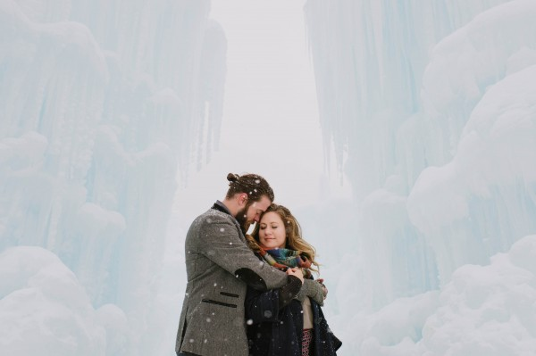 Snowy-Couple-Session-Ice-Castles-New-Hampshire-Darling-Photography (5 of 20)