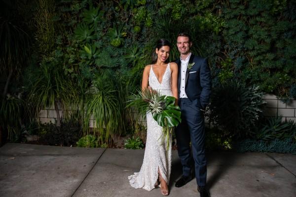 a5981b0e2081 Edgy Urban Wedding at The Smog Shoppe