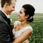 Lace and Burlap Wedding in North Dakota