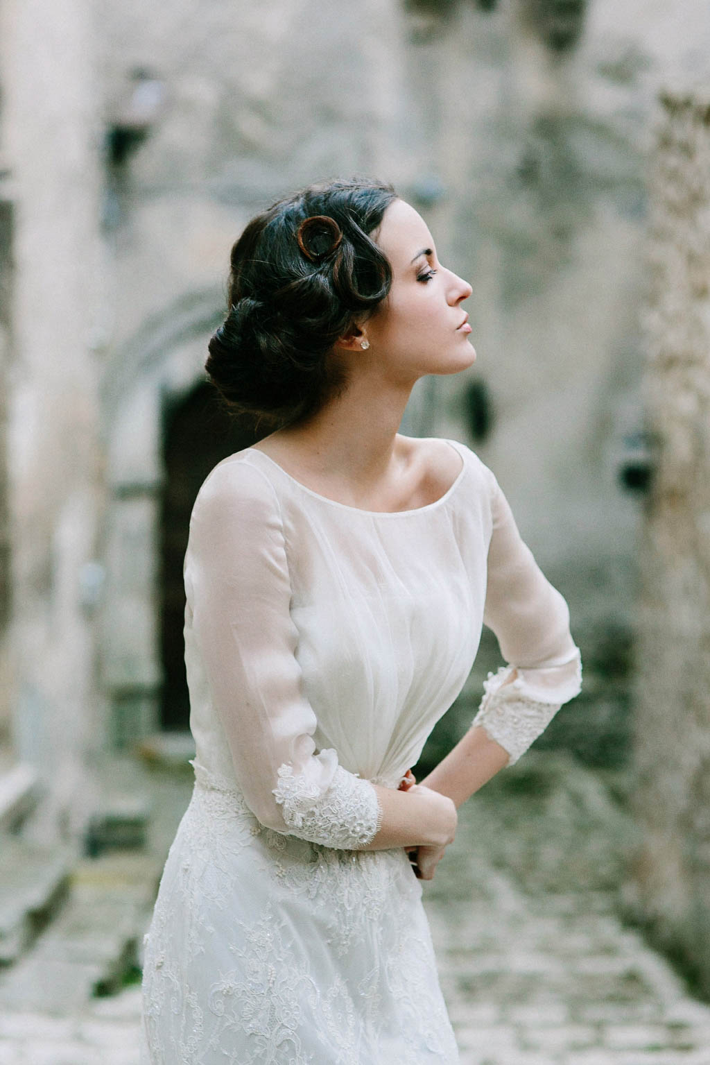 Vintage Italian Film Inspired Bridal Shoot Junebug Weddings