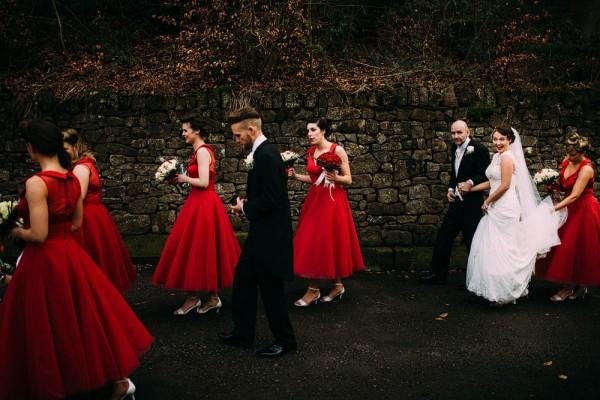 1950s Gangster Themed Wedding Dress