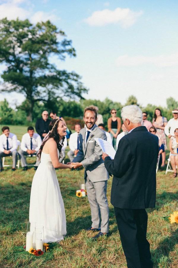 Casual Backyard Wedding in Massachusetts | Junebug Weddings