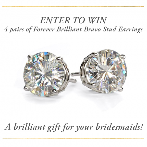 Forever Brilliant Moissanite Bravo Stud Earrings giveaway graphic