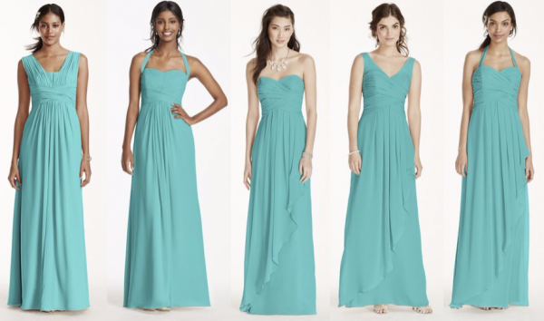 Davids Bridal Spa Color Bridesmaid Dresses
