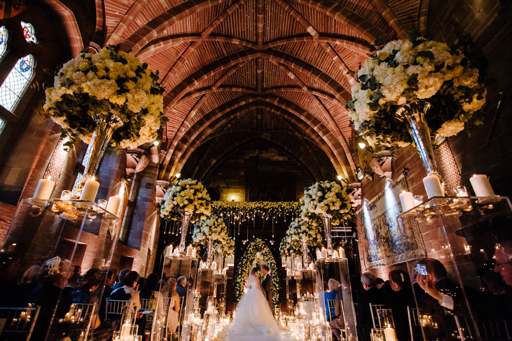 Silver And Ivory Wedding At Peckforton Castle