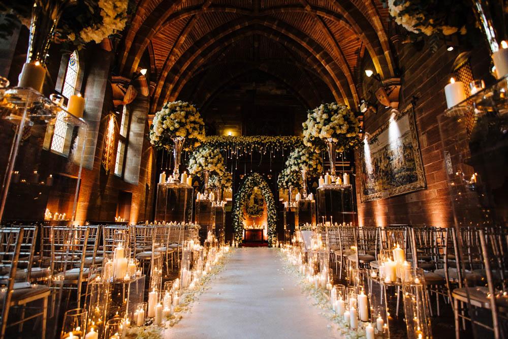 Silver And Ivory Wedding At Peckforton Castle Junebug